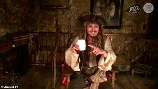Johnny Depp Dresses Up as Captain Jack Sparrow for the First Time in Two Years