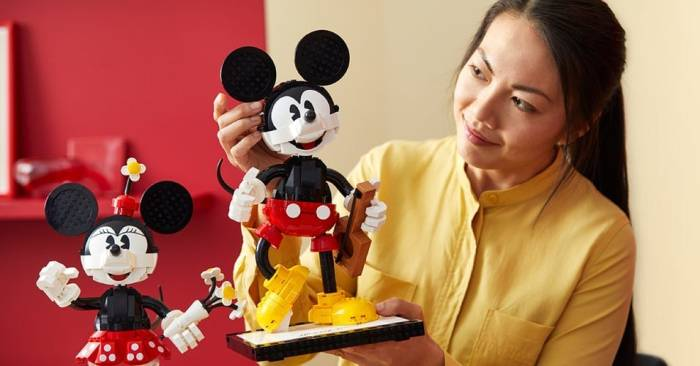 Playful New Mickey And Minnie LEGO Buildable Characters Coming Soon Mickey And Minnie LEGO