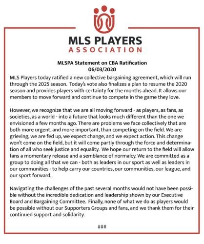 Major League Soccer reportedly to resume 2020 season at Walt Disney World 1