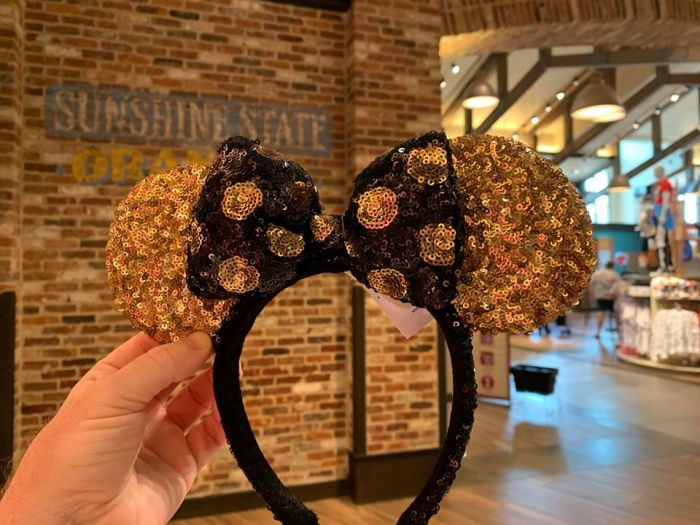 Black And Gold Minnie Ears