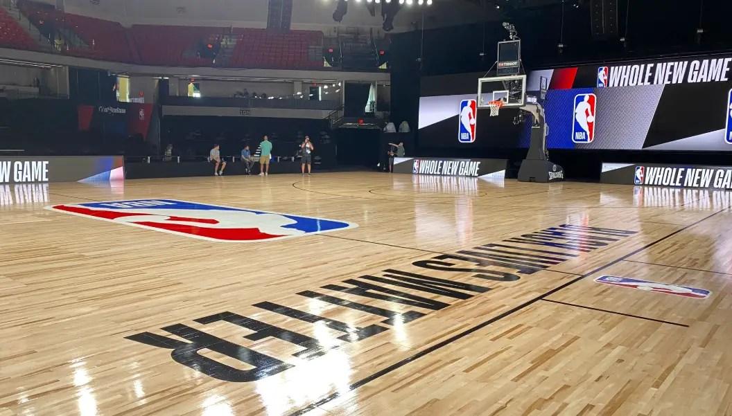 Inside look at NBA's Restart Court in Disney World featuring Black Lives Matter