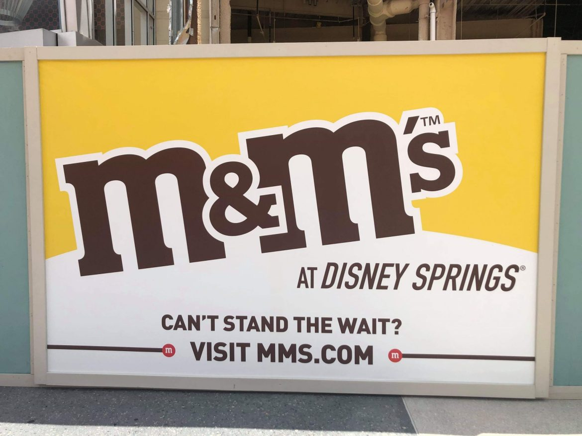 M&M's Store constuction update for Disney Springs