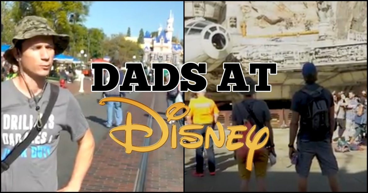 """""""Dads at Disney"""" Video from 'Dude Dad' and 'The Holderness Family' Goes Viral"""