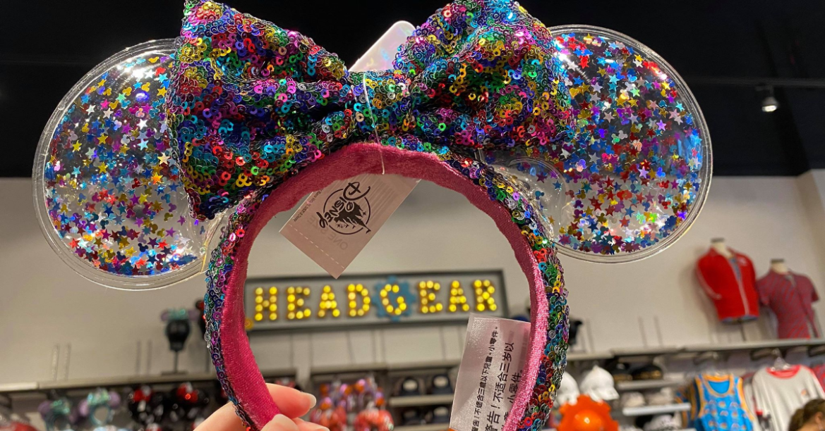The New Rainbow Confetti Minnie Mouse Ears Have Officially Arrived