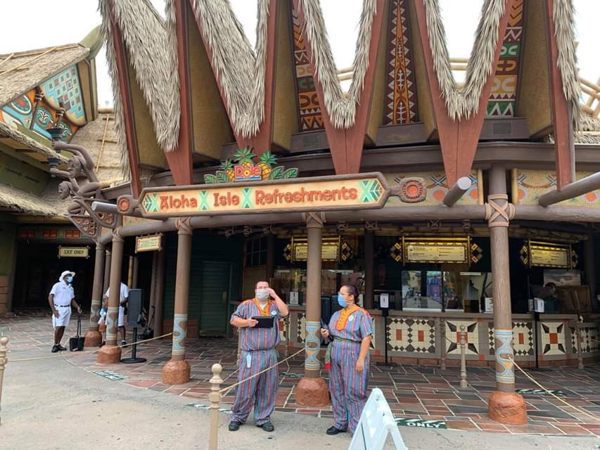 Aloha Isle Reopens In The Magic Kingdom With Social Distancing Measures
