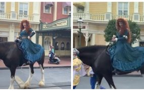 Merida's Horse Gets Spooked During The Royal Princess Processional