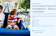 PeopleMover in Magic Kingdom Remains Closed