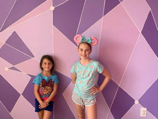 Make This Magic Kingdom Purple Wall for Your Home purple wall