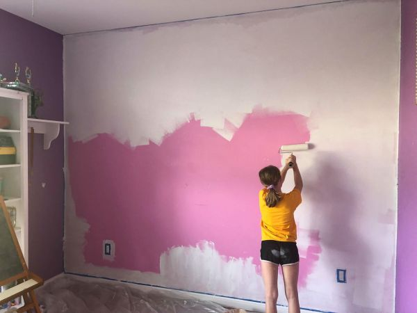 Make This Magic Kingdom Purple Wall for Your Home