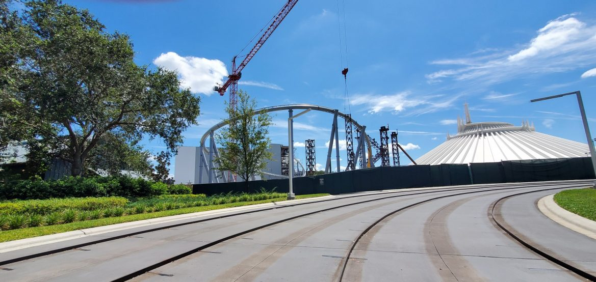 Tron Coaster Contruction update from the Magic Kingdom