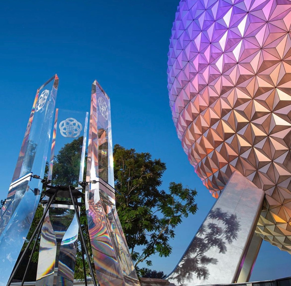 Inside look at how the new Epcot Pylons were installed