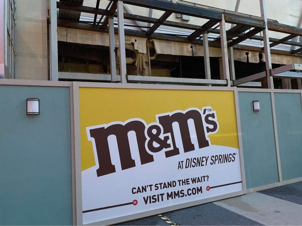 M&M Store Construction update from Disney Springs 2