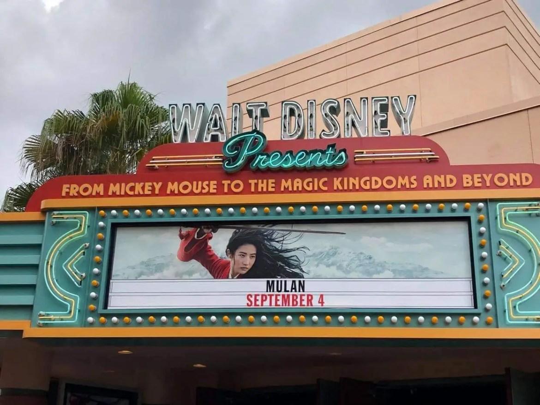 Mulan Preview now playing at Hollywood Studios