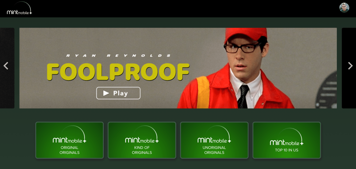 Ryan Reynolds Launches New Mint Mobile+ Streaming Service Feature One Movie