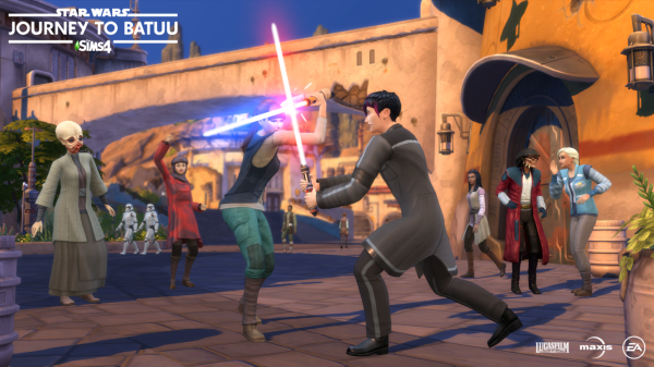 The Sims are blasting off to the Star Wars Planet of Batuu 1