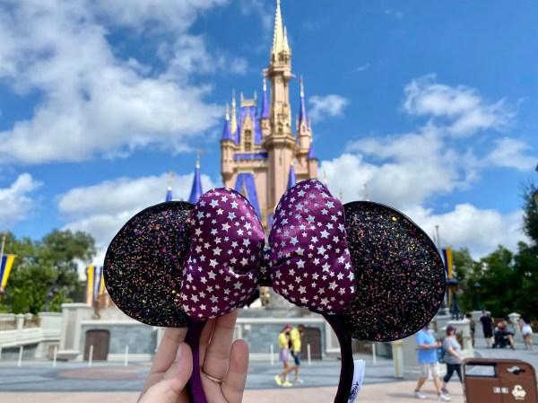 Iridescent Purple Minnie Mouse Headbands