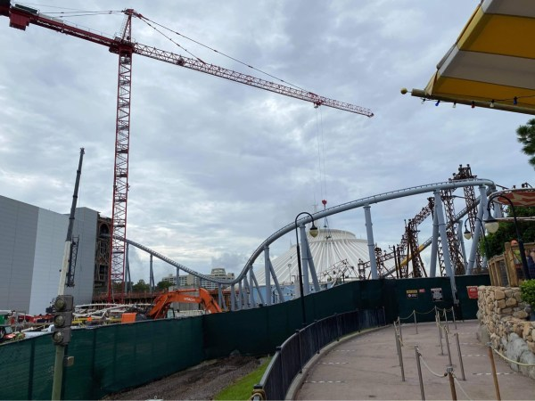 Tron construction update from the Magic Kingdom 1
