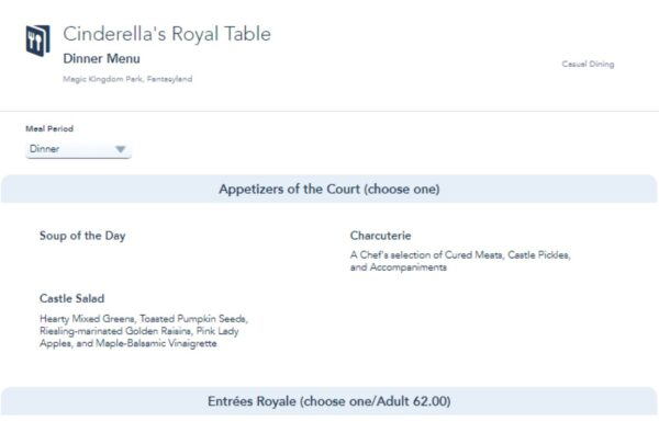 Disney lowers the price of Cinderella's Royal Table due to lack of characters 1
