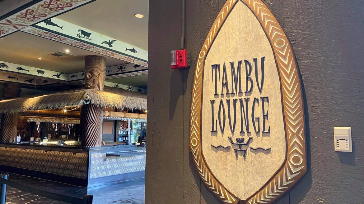Tambu Lounge Reopens at Disney's Polynesian Resort