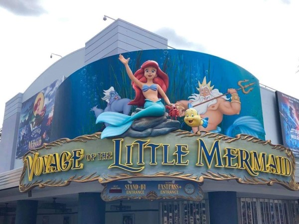 Maintenance being done on the signage in Hollywood Studios 2
