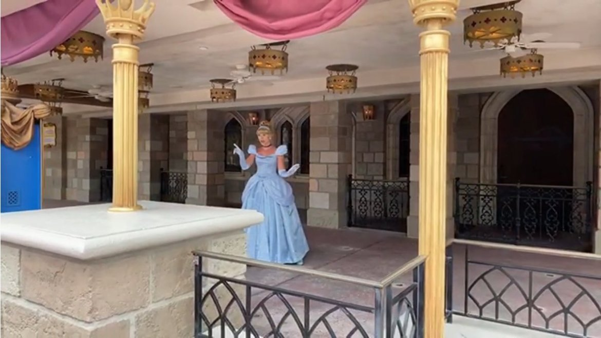 Cinderella doing social distant Meet & Greets at the Magic Kingdom