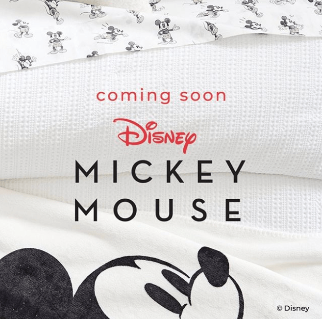 New Vintage Mickey Mouse Home Collection Coming to Pottery Barn