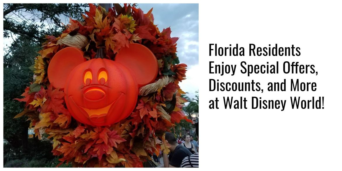 Florida Residents Enjoy Special Offers, Discounts, and more at Walt Disney World