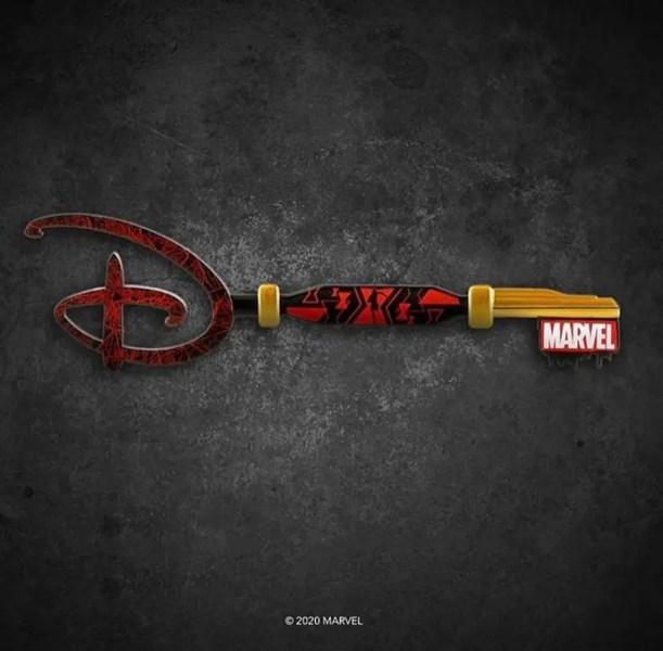 Black Widow Disney Key