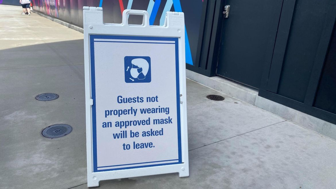 Disney asks guests to reschedule their trip if they are unable to wear face mask at all times