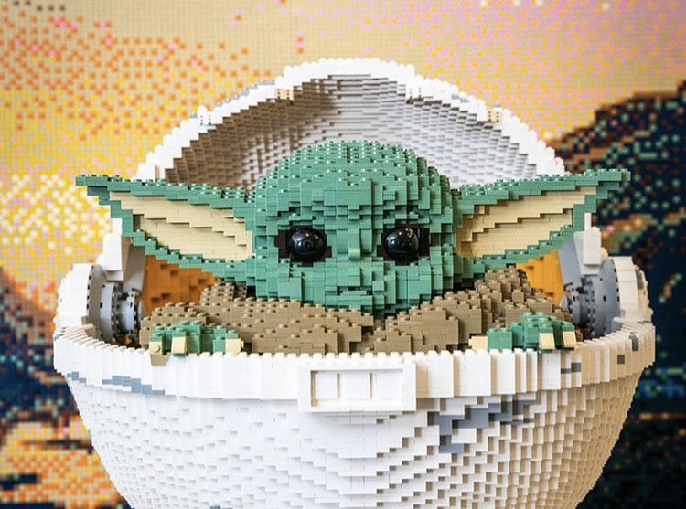 New Baby Yoda Made Entirely of LEGOs in Disney Springs