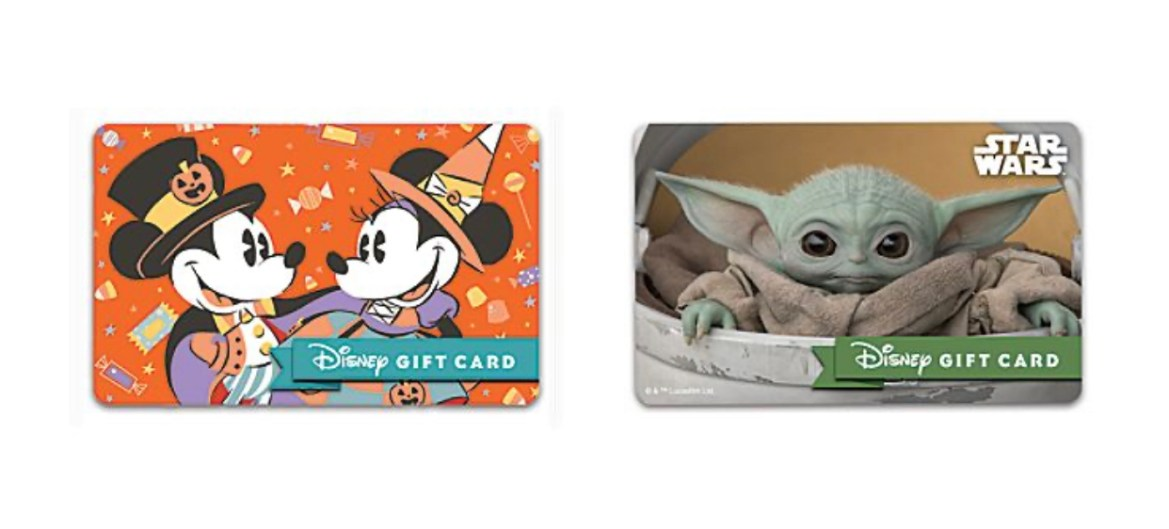 New Disney Gift Card Designs