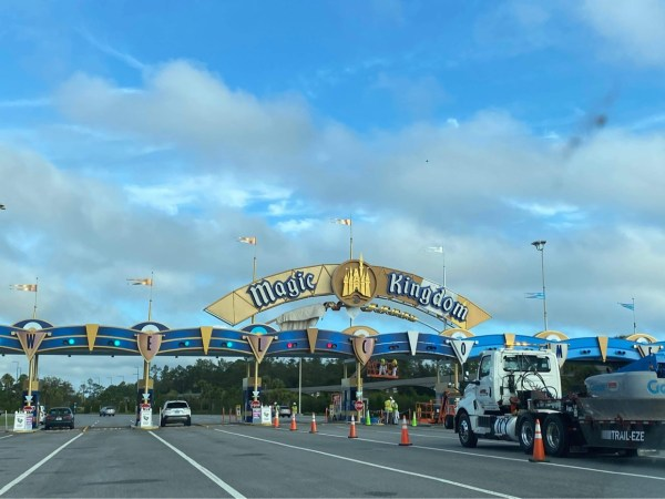 Construction continues on the Toll Plaza in the Magic Kingdom 4