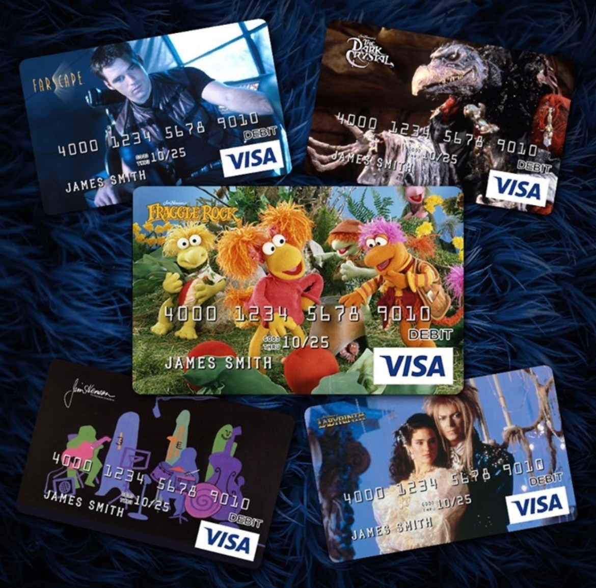 New Jim Henson Prepaid Visa Cards have all of your favorite characters