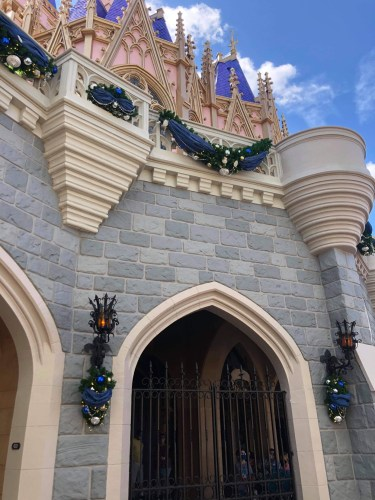 Holiday overlay being added to Cinderella Castle 1