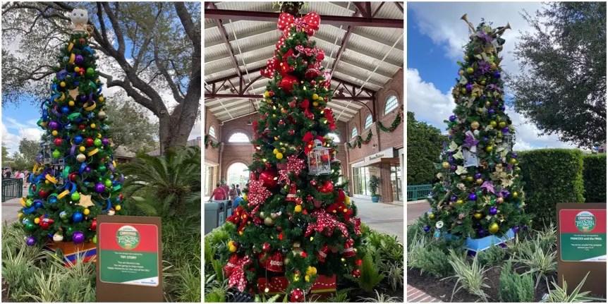 Christmas Tree Stroll On Display Throughout Disney Springs!