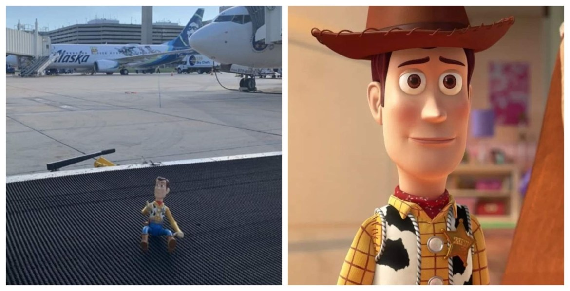 Sheriff Woody Stranded at the airport and needs a ride home.