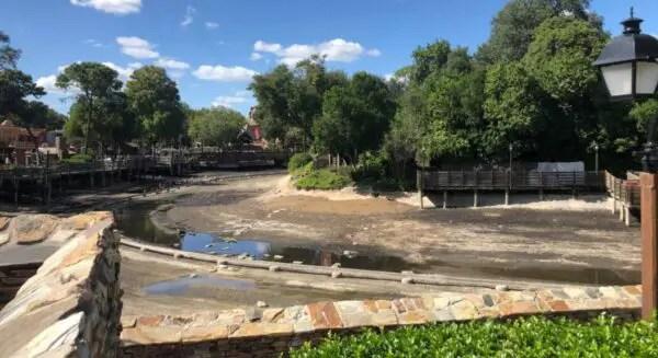 Rivers of America in the Magic Kingdom drained for Refurbishment 1