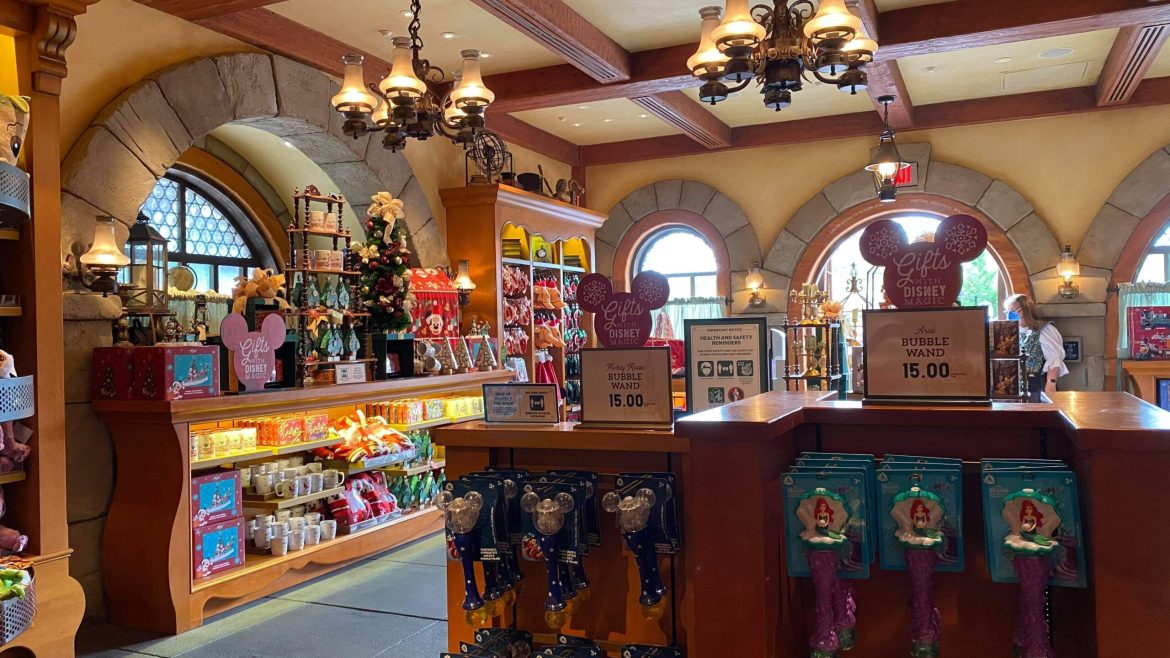 Bonjour Village Gift Shop Reopens with Christmas Merch at the Magic Kingdom