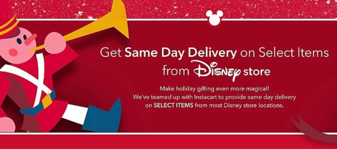 ShopDisney offering Same Day Delivery Service through Instacart