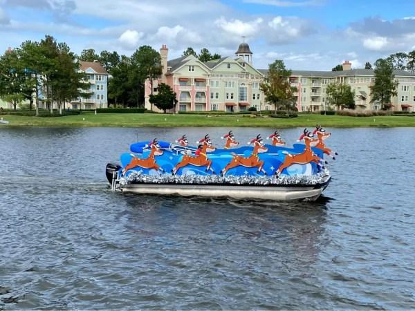 Here comes Santa Claus floating through Disney Springs 1