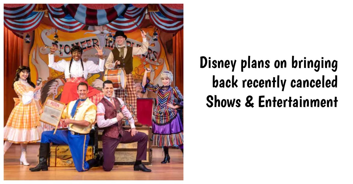 Disney plans on bringing back recently canceled Shows & Entertainment