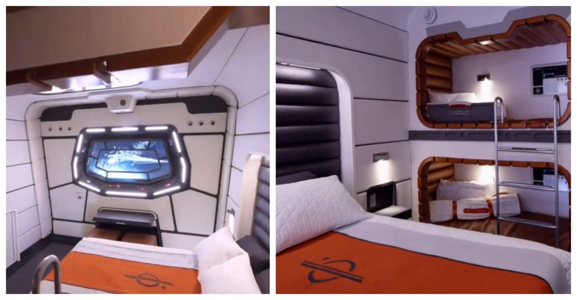 Look inside the cabins at the Star Wars Galactic Starcruiser Hotel