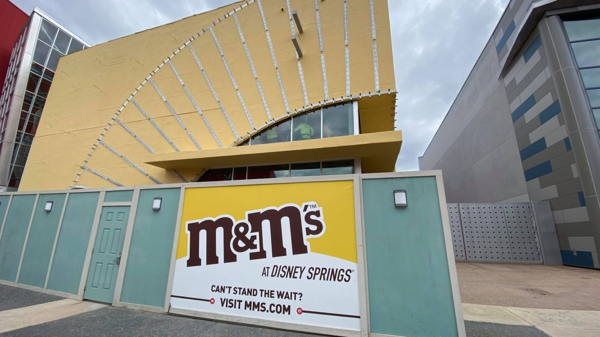 M&M Store in Disney Springs Construction Update