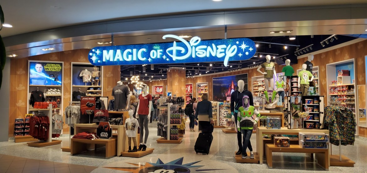 The Magic of Disney store has reopened at the Orlando Airport