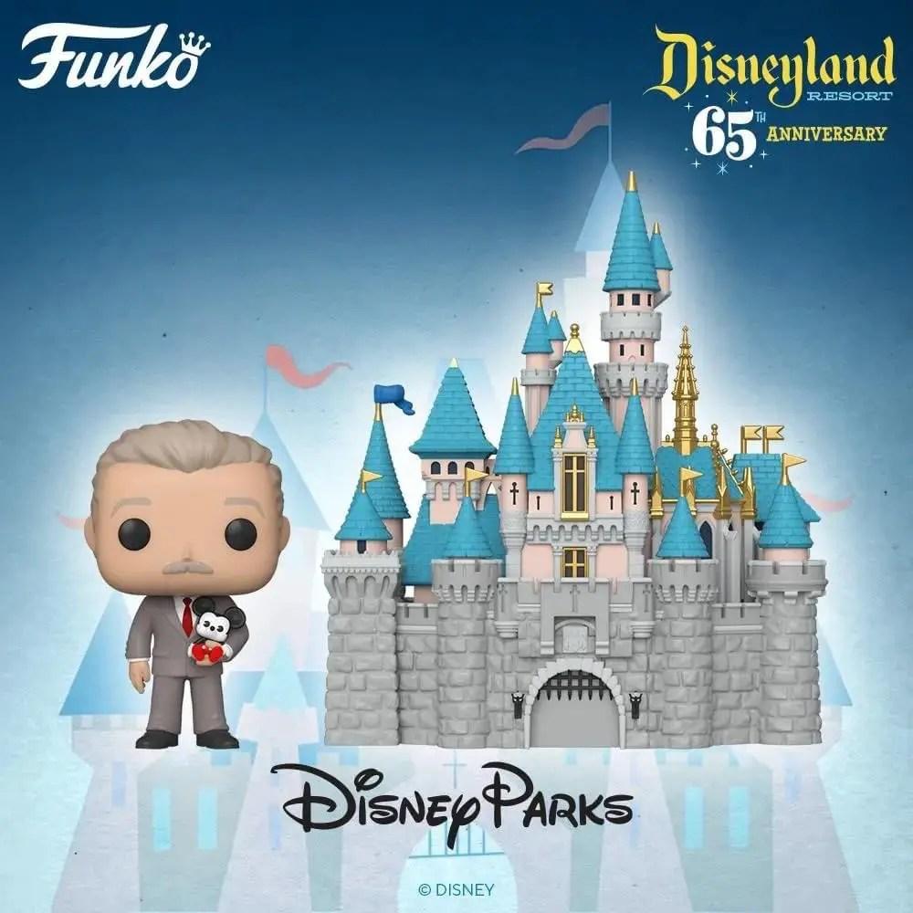 New Walt Disney and Sleeping Beauty Castle Funko Pop