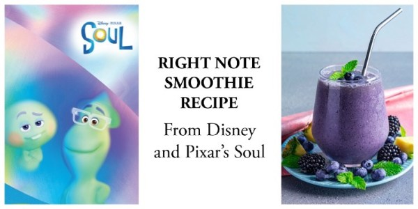 Right note smoothie recipe pixar's soul