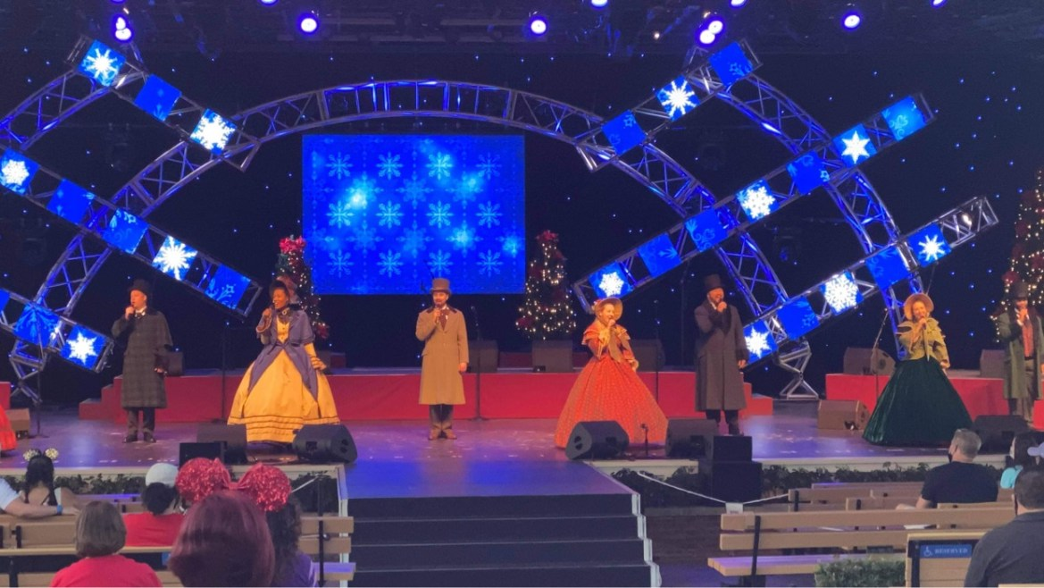 Voices of Liberty return to sing Christmas songs at Epcot's Festival of the Holidays