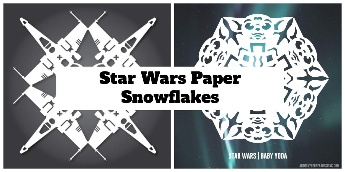 Make your own Star Wars Paper Snowflakes