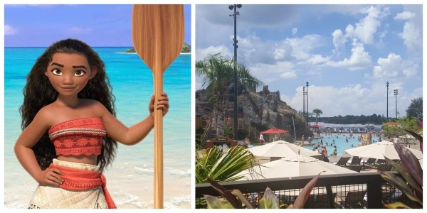 Moana Themed Elements being added to Polynesian Pool according to permit 1