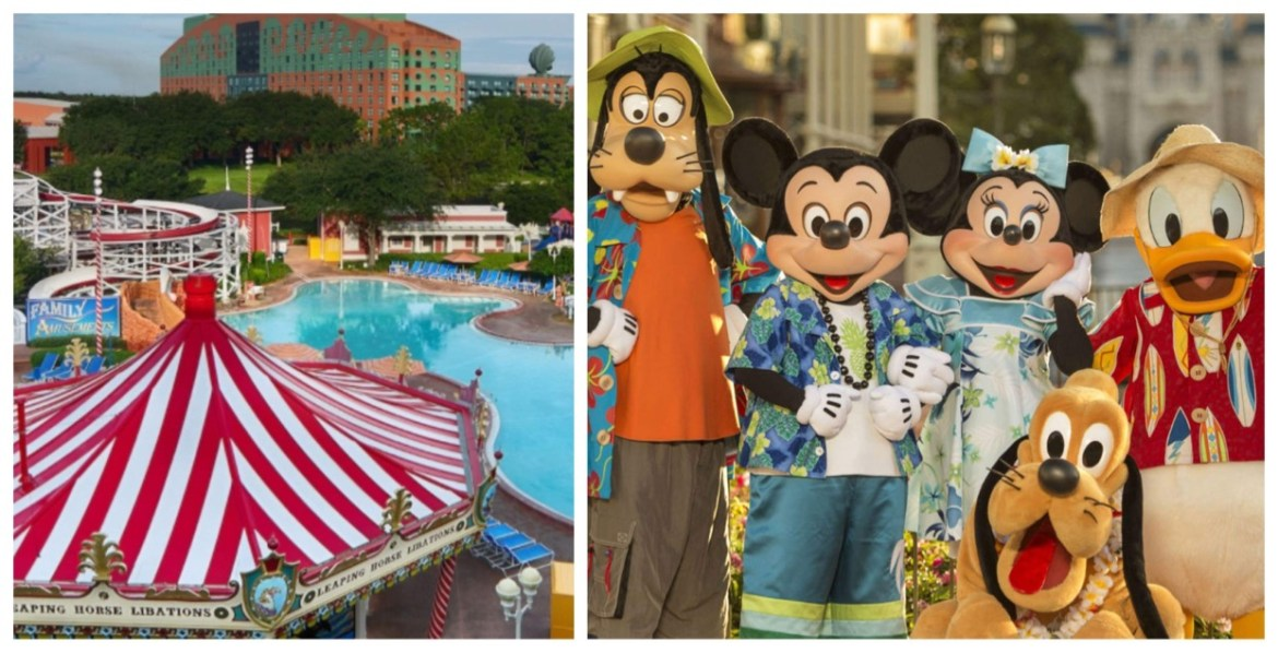 Mickey & Friends coming to the Clown pool at Disney's Boardwalk Resort